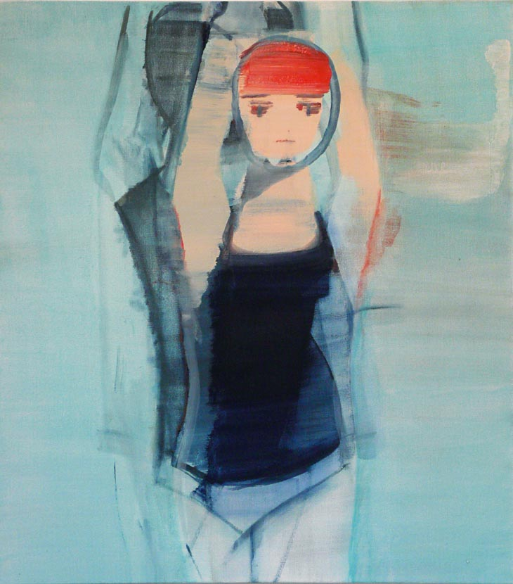 Swimmers 2, oil on canvas, 89 x 79 cm, 2010