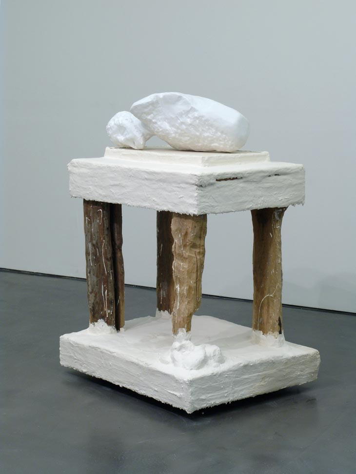 Untitled, marble, wood, plaster on wheels, 144 x 101 x 81 cm, 2008