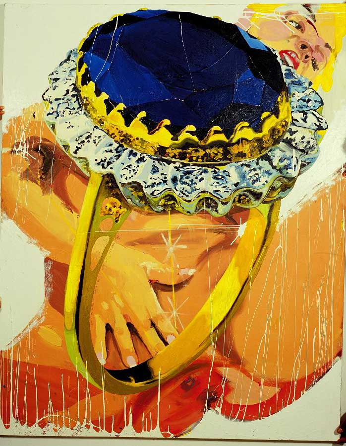 Sapphire Ring, oil on canvas, 120 x 150 cm, 2003