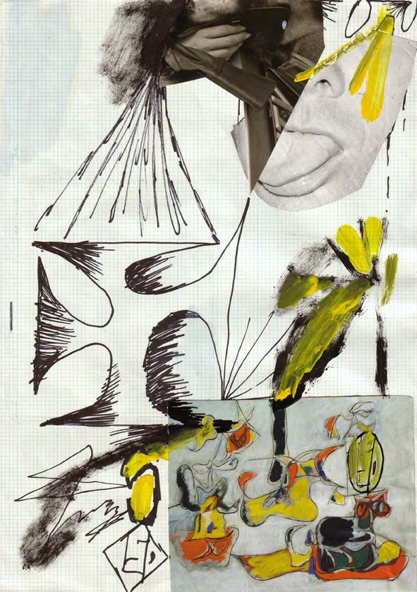 Untitled, collage on paper 29 x 21 cm, 2010