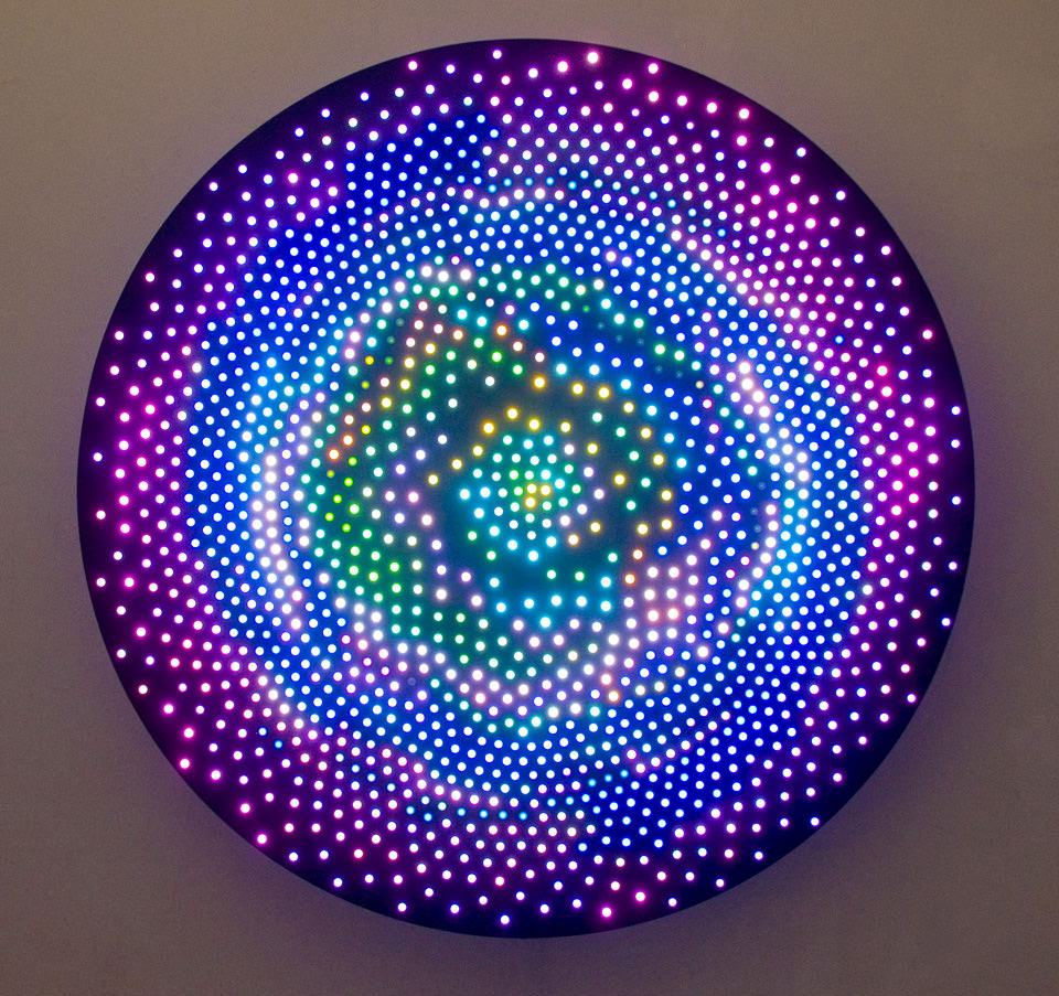 Big Bang, LEDs, aluminum, custom software and electrical hardware, 2008